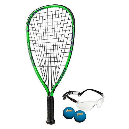 HEAD MX Hurricane Racquetball Pack, Strung, 3 5/8 Inch Grip - His Perfect Gifts