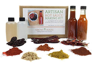 Grow and Make DIY Artisan Gourmet Hot Sauce Kit - Make 3 Unique Sauces at home! - His Perfect Gifts