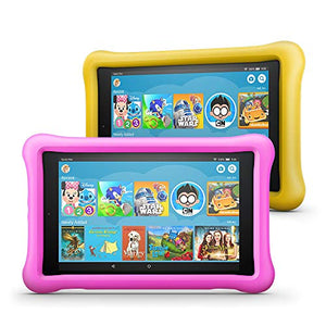 "Fire HD 8 Kids Edition Tablet 2-Pack, 8"" HD Display, 32 GB, Kid-Proof Case - Pink/Yellow - His Perfect Gifts"