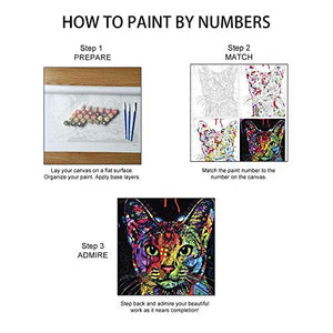 "Easy ArtWorld's Painting Paint by Number Kits | Beautiful DIY Artwork Painting Set | Includes Frame (Stretcher) 16"" x 20"" Painting with a Twist Suitable for All Ages (King of Pop, Frameless) - His Perfect Gifts"