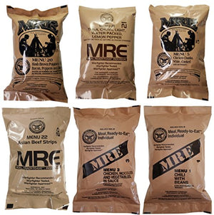 ULTIMATE MRE, Pack Date Printed on Every Meal - Meal-Ready-To-Eat. Inspected Certified by Western Frontier. Genuine Mil Surplus. (6-Pack) - His Perfect Gifts