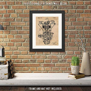 Original Henry Ford Transmission Patent Art Poster Print - 11x14 Unframed - Great Wall Art Decor Gifts for Detroit, Michigan, Man Cave, Garage, Boy's Room, School, Office, Auto Repair Shop Mechanic - His Perfect Gifts