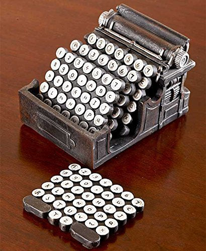 5-Pc.Typewriter Coaster Set - His Perfect Gifts