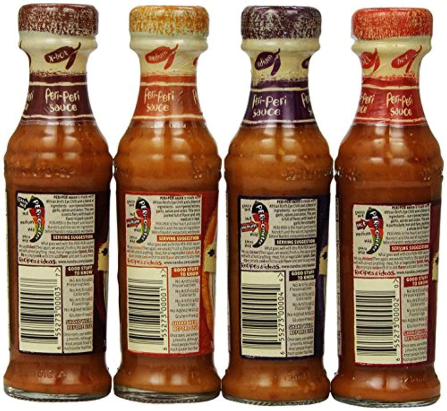 Nando's Peri Peri Sauce Variety 4 Flavors Combination, 4.7 Ounce (Pack of 4) - His Perfect Gifts