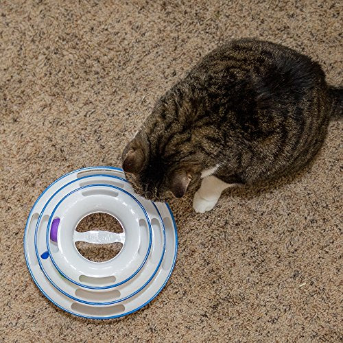 Easyology Amazing Roller Cat Toy - Cat Toys Interactive Fun with 3-Levels - Kitty Cat Charmer for Interactive Play and Exercise for Kittens - Cat Teaser Kitty Toys and Best Cat Toys - His Perfect Gifts