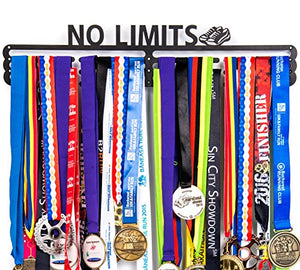 Urban Active Sports Medal Holder + No Limits + Medal Display for 60+ Medals - His Perfect Gifts