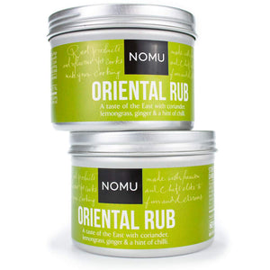NOMU Oriental Seasoning Rub (2-Pack | 4.2oz) - Blend of 16 Premium Herbs & Spices - Vegan, Non-Irradiated, No MSG or Preservatives (2-Pack) - His Perfect Gifts