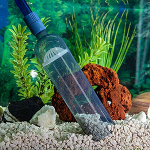 Gravel Vacuum for Aquarium - Fish Tank Gravel Cleaner- Aquarium Vacuum Cleaner - Aquarium Siphon - 8 Foot Long Aquarium Gravel Cleaner With mini Net - His Perfect Gifts
