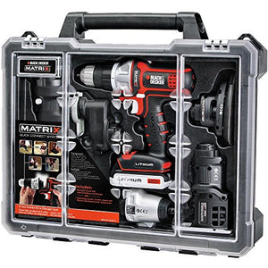 BLACK+DECKER BDCDMT1206KITC Matrix 6 Tool Combo Kit with Case - His Perfect Gifts