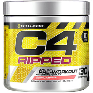 Cellucor C4 Ripped Pre Workout Powder Energy Drink For Men & Women with Green Coffee Bean Extract, Cherry Limeade, 30 Servings - His Perfect Gifts