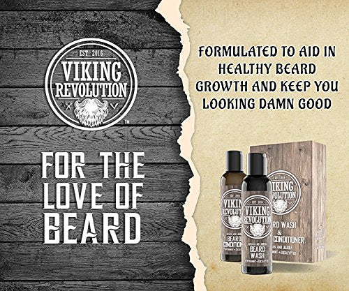Best Deal Beard Wash & Beard Conditioner Set w/Argan & Jojoba Oils - Softens & Strengthens - Natural Peppermint and Eucalyptus Scent - Beard Shampoo w/Beard Oil (5 oz) - His Perfect Gifts