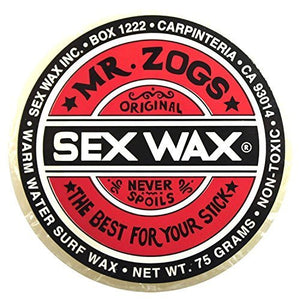 Mr. Zogs Original Sexwax - Warm Water Temperature Coconut Scented (White) - His Perfect Gifts