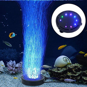 LONDAFISH Aquarium Bubble Light Aquarium Air Stone LED Light Air Pump Bubble Stone Lamp - His Perfect Gifts
