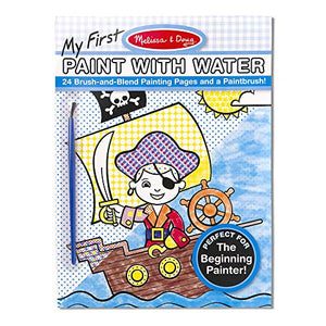Melissa & Doug My First Paint with Water Kids' Art Pad With Paintbrush - Pirates, Space, Construction, and More - His Perfect Gifts