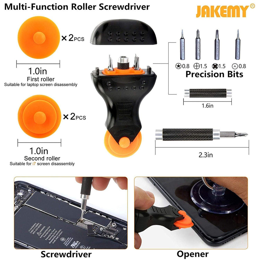 Screwdriver Set 99 in 1 with 50 Magnetic Precision Driver Bits Repair Tool kit with Pocket Tool Bag - His Perfect Gifts