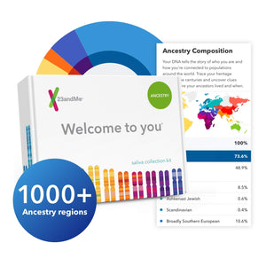 23andMe DNA Test - Ancestry Personal Genetic Service - Includes 1,000+ Geographic Regions, DNA Relative Finder (Opt-in) & More - His Perfect Gifts