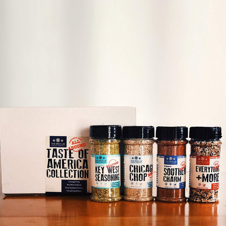 The Spice Lab Seasoning Collection - Ultimate Culinary Gift Set - Perfect for All Around Cooking - His Perfect Gifts