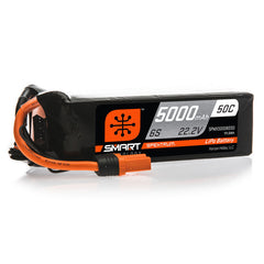 22.2V 5000mAh 6S 50C Smart LiPo Battery: IC5