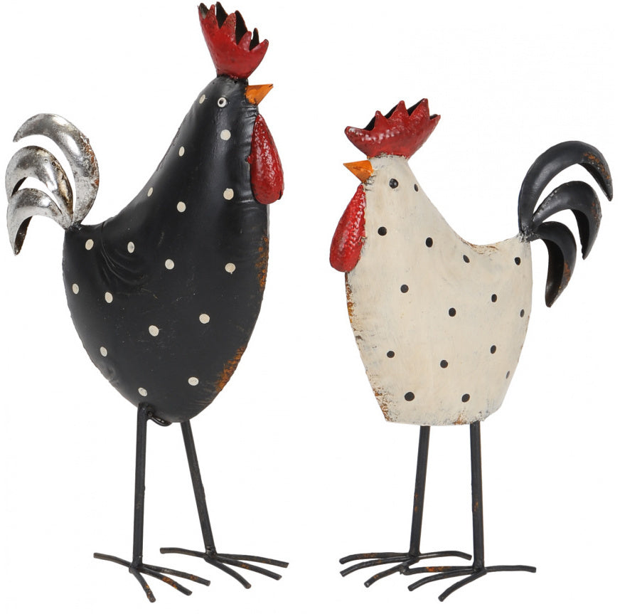 Henry & Hetty Metal Chickens