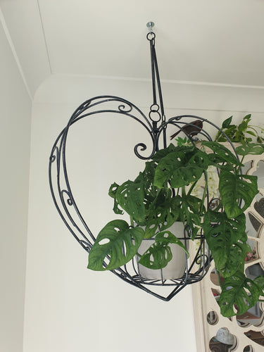 Metal Heart Hanging Planter