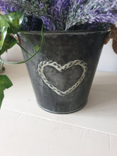 Load image into Gallery viewer, Vintage Lavender Heart Bucket