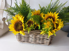 Load image into Gallery viewer, Sunflower Basket Arrangement