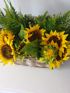 Sunflower Basket Arrangement