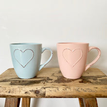Load image into Gallery viewer, Heart Embossed Mugs