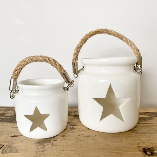 White Star Tealight Holders