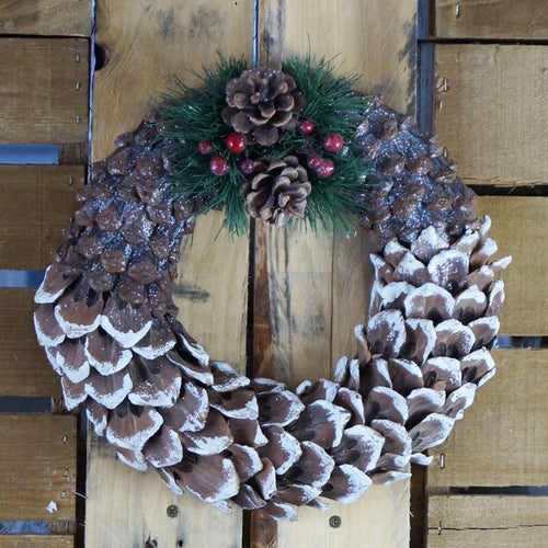 Small Pinecone Decal Wreath
