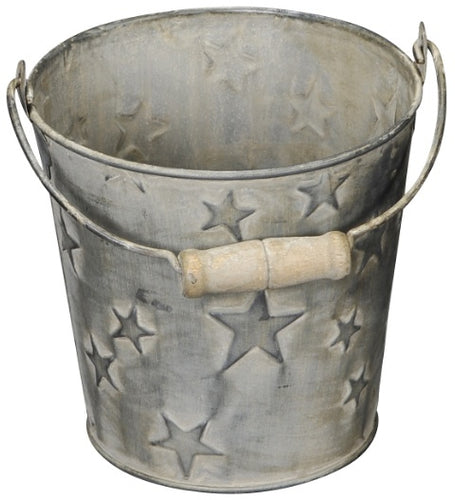Cute Little Rustic Mini Star Embossed Bucket