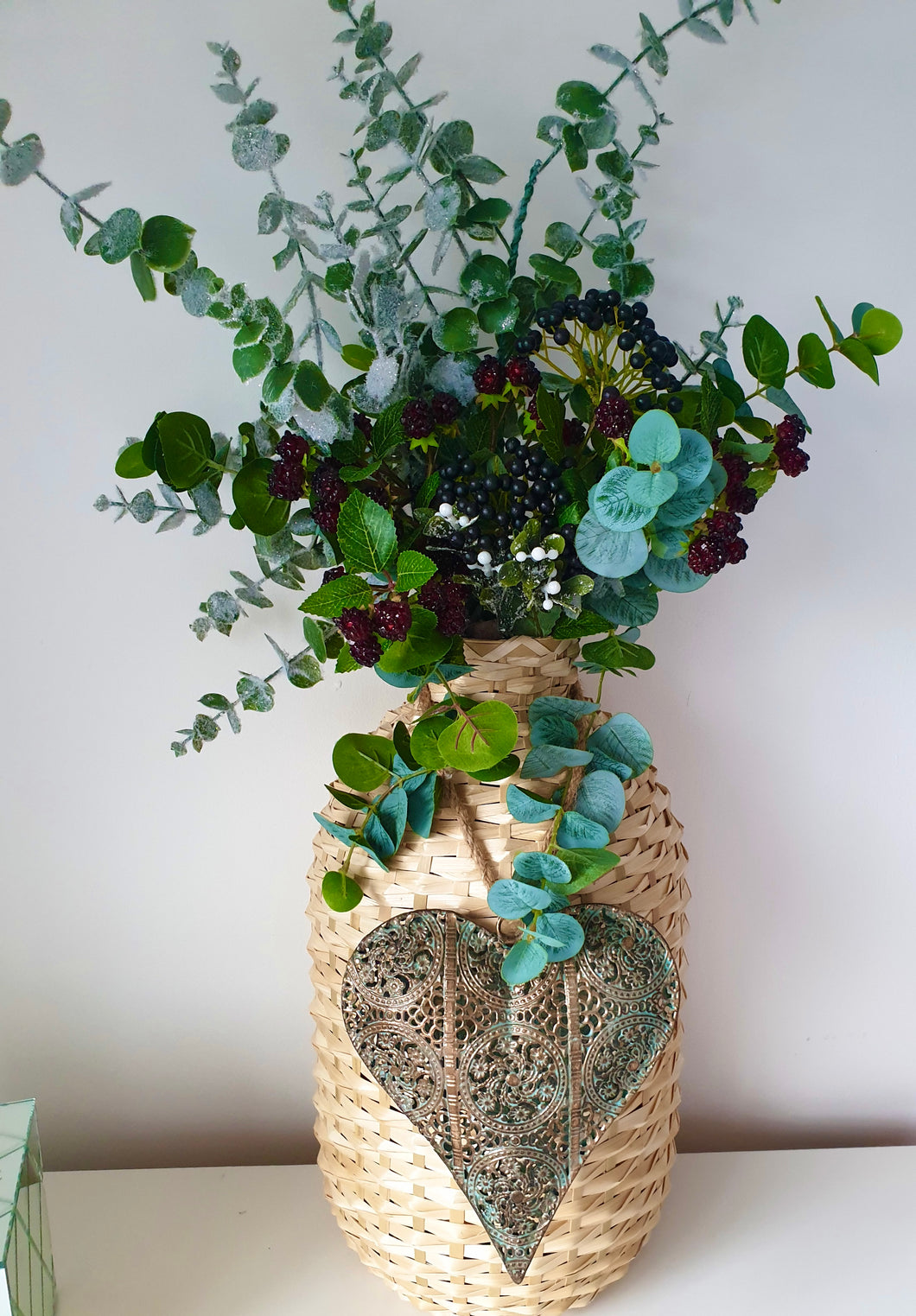 Large Wicker Vase Planter