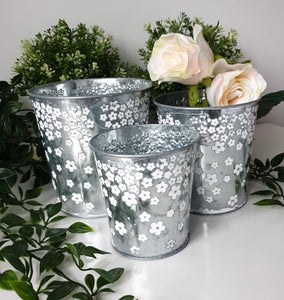 Daisy Planters - Set of Three