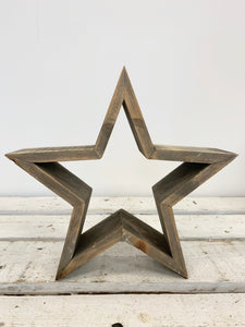 Chunky 3D Wooden Stars