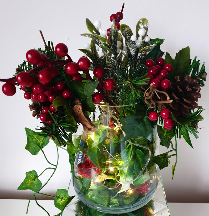 Christmas Vase with all the nice bits!