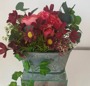 Maurelle  Rustic Star Bucket Arrangement