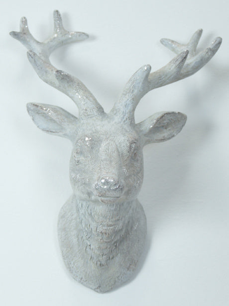 Small White Washed Stags Head