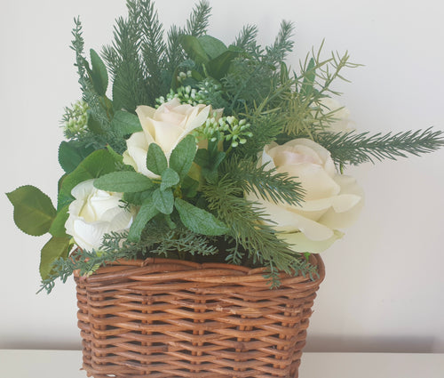 Cream Rose Planter