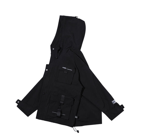 Image of Winter Hooded Techwear Jacket