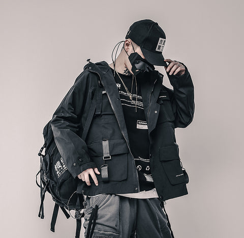 WINTER HOODED TECHWEAR JACKET