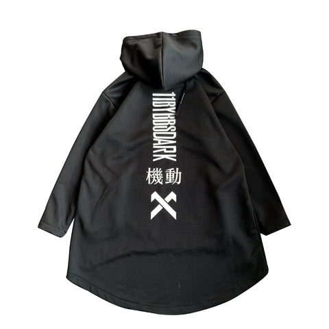 Image of DARK TECHWEAR LONG HOODIE
