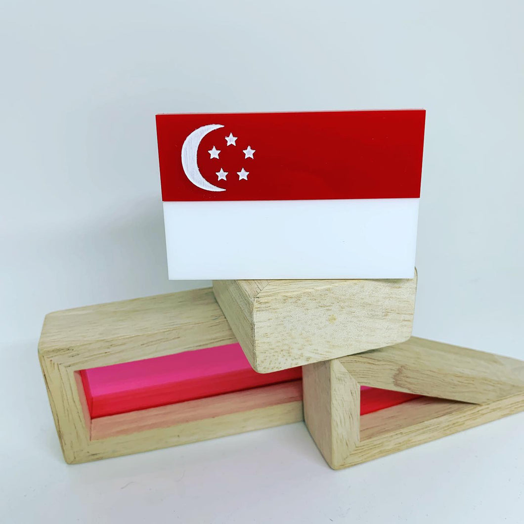 Martini and Slipper Singapore Flag Brooch