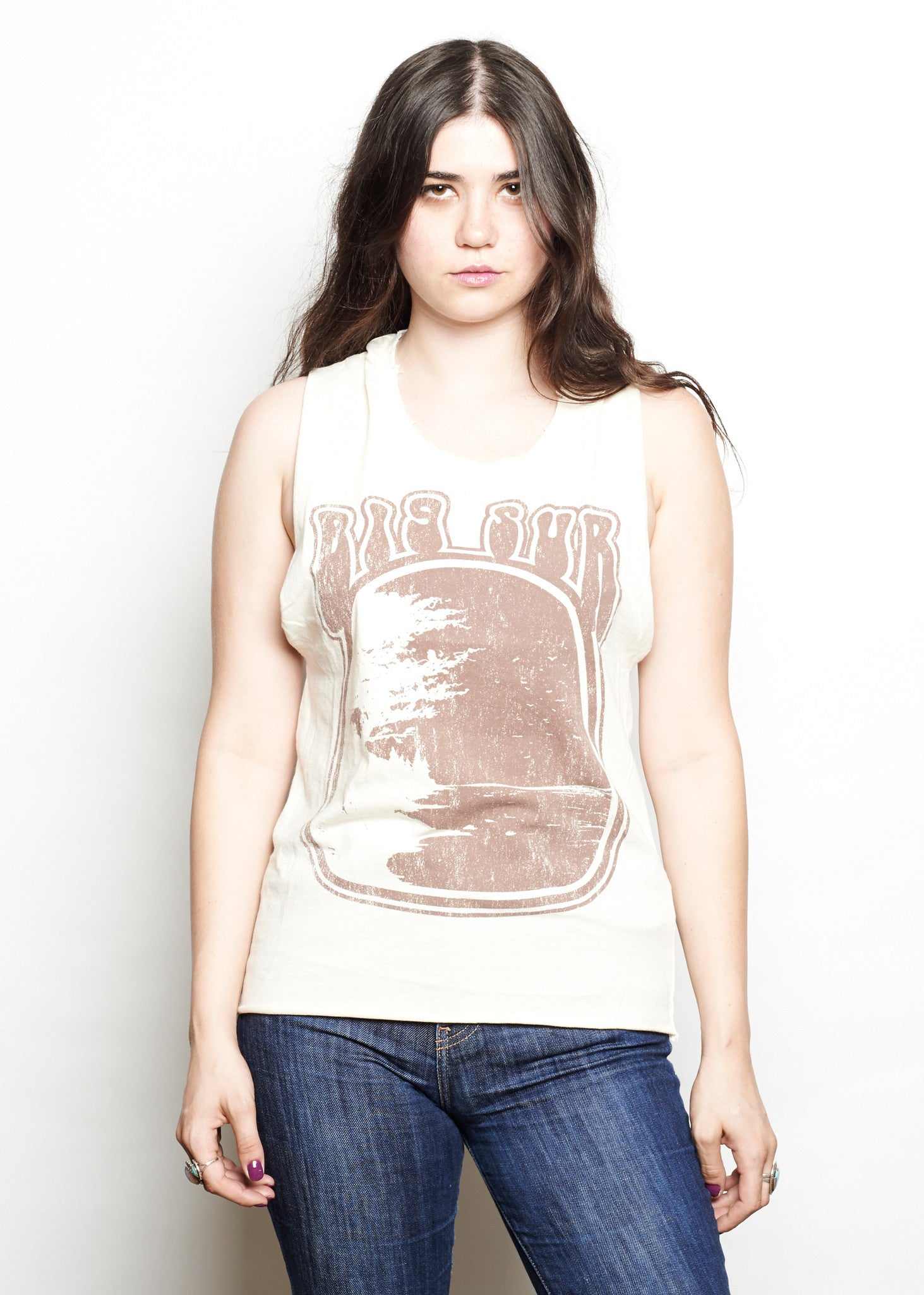 Big Sur Muscle Tee - Dirty White