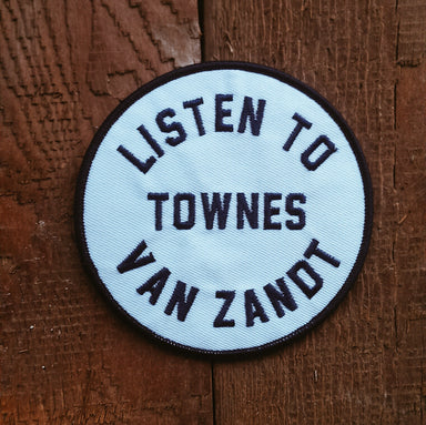 Listen to Townes Van Zandt Patch - Accessories - Midnight Rider