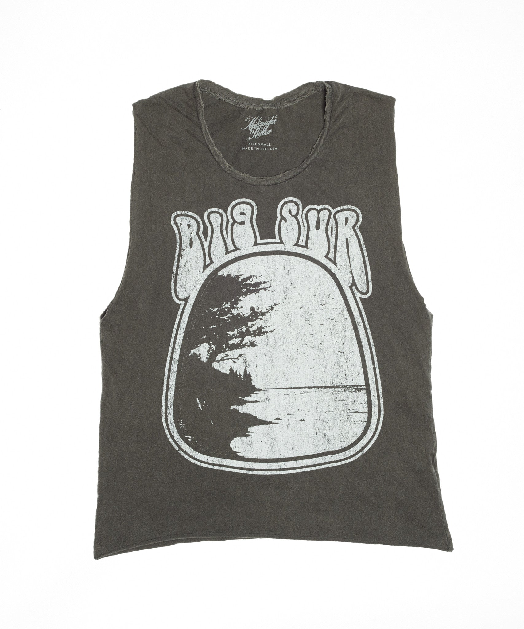 Big Sur Muscle Tee - Vintage Black