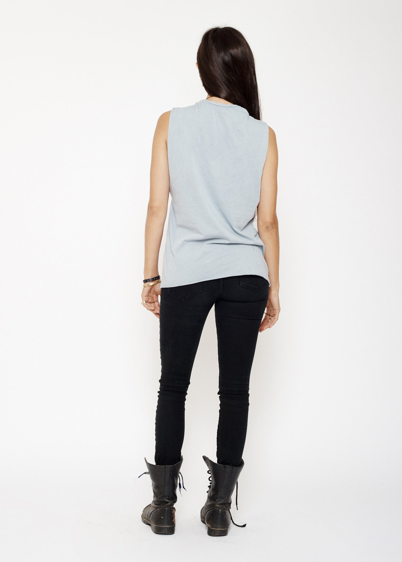 Big Sur Muscle Tee - Sky Blue Stone Wash - Women's Muscle Tee - Midnight Rider