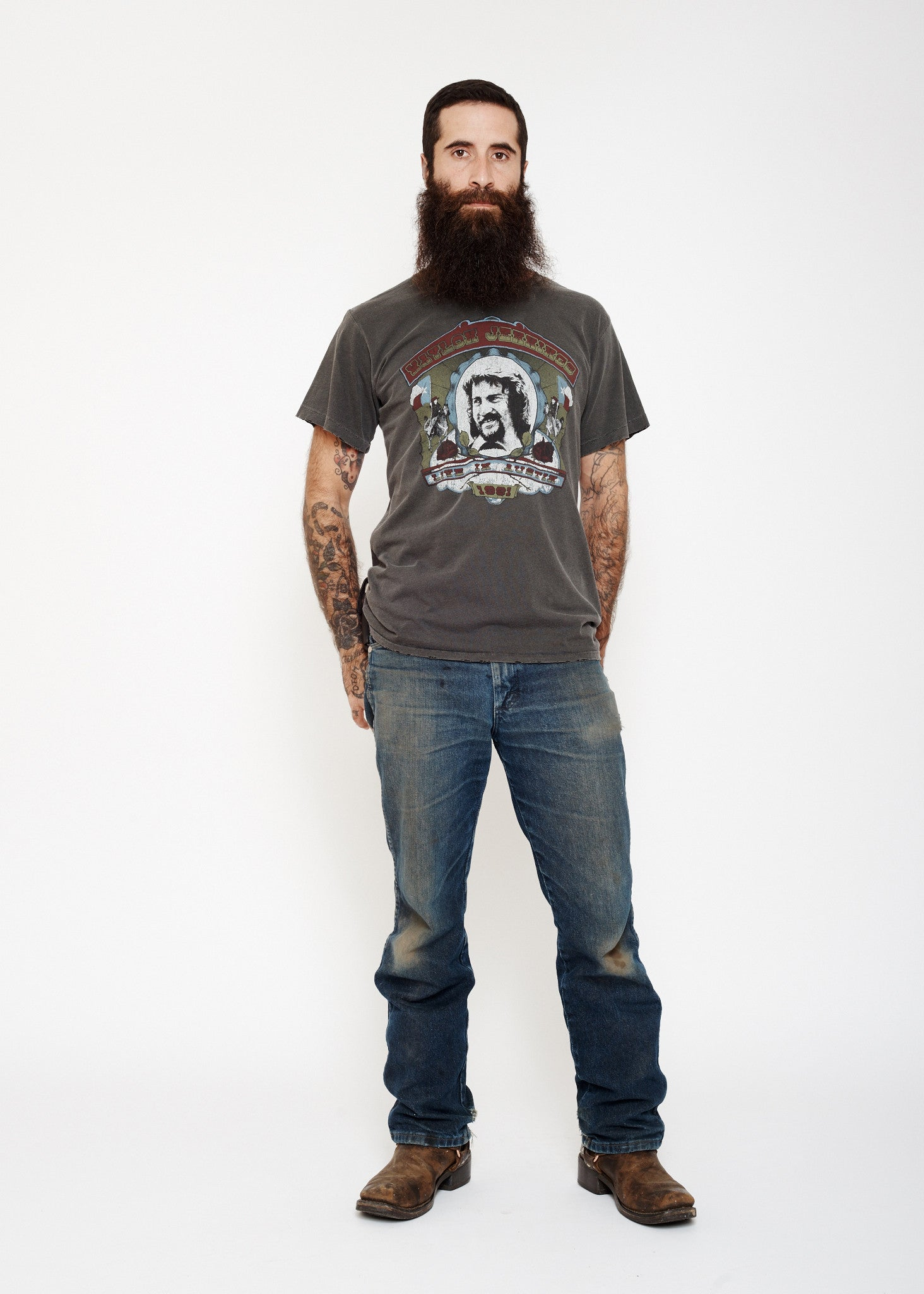 Live in Austin Men's Crew - Vintage Black