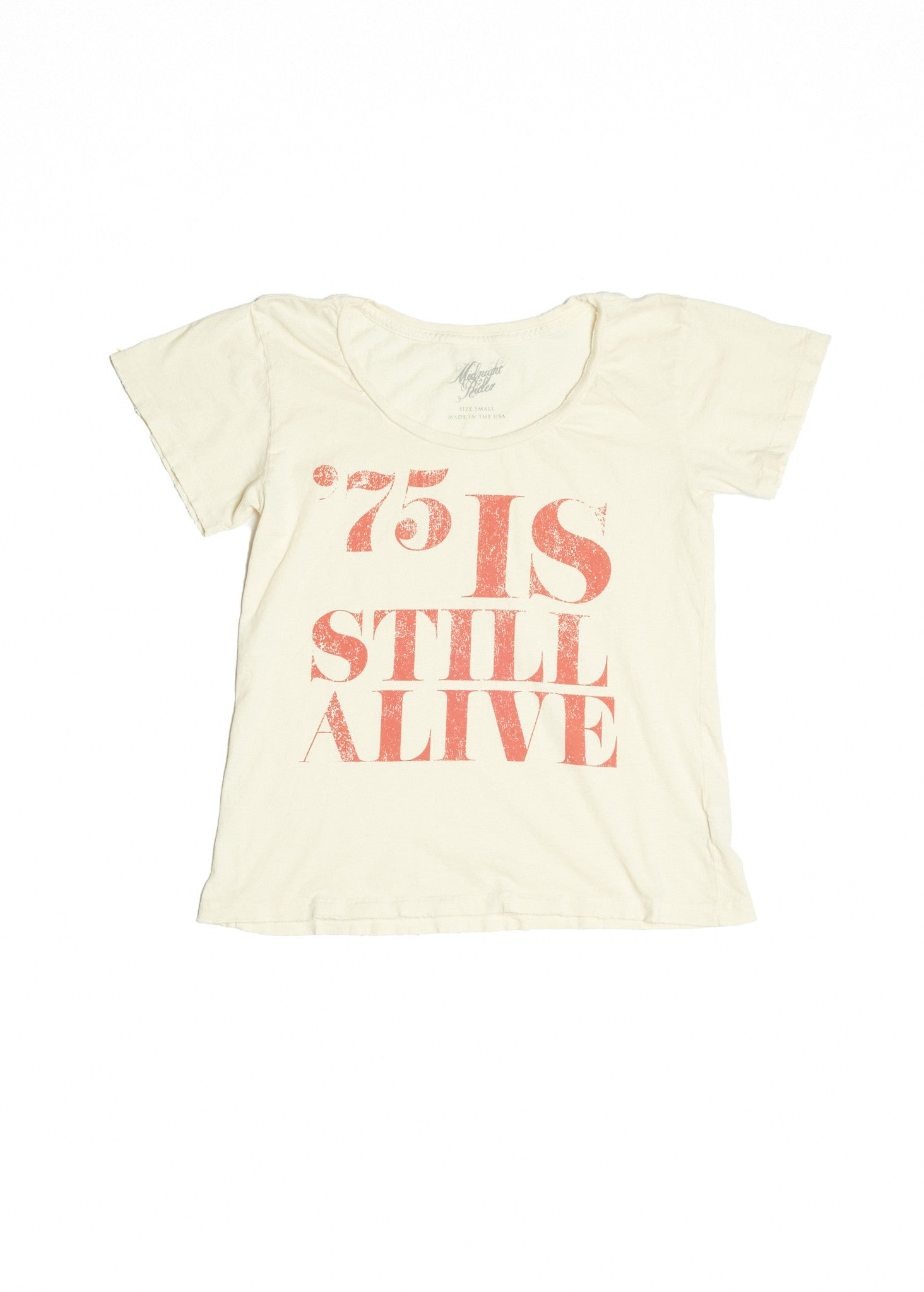 75 is Still Alive Women's Crew - Dirty White - Women's Tee Shirt - Midnight Rider