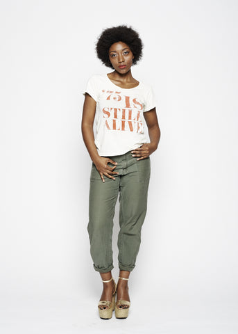 75 is Still Alive Women's Crew - Dirty White