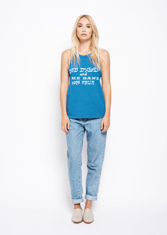Bob Dylan and The Band Showbill Halter Tank - Snorkle Blue